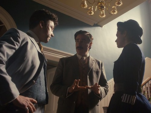 Stephen Mangan, Michael Weston, and Rebecca Liddiard in Houdini and Doyle (2016)