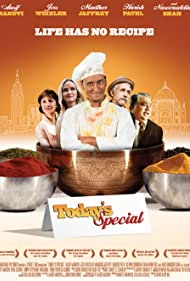 Madhur Jaffrey, Aasif Mandvi, Harish Patel, Naseeruddin Shah, and Jess Weixler in Today's Special (2009)