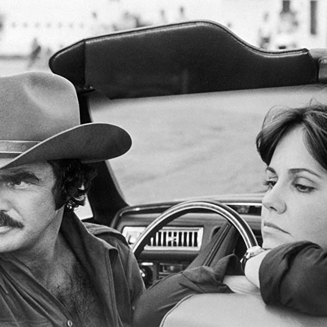 Sally Field and Burt Reynolds in Smokey and the Bandit (1977)