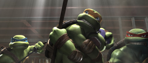 Laurence Fishburne, Patrick Stewart, Kevin Smith, John DiMaggio, Chris Evans, Mikey Kelley, Mako, Nolan North, James Arnold Taylor, Mitchell Whitfield, and Ziyi Zhang in TMNT (2007)
