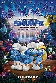 Joe Manganiello, Demi Lovato, Jack McBrayer, and Danny Pudi in Smurfs: The Lost Village (2017)