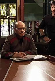 Robert Picardo and Joe Flanigan in Stargate: Atlantis (2004)