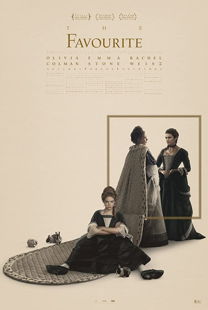Rachel Weisz, Emma Stone, and Olivia Colman in The Favourite (2018)