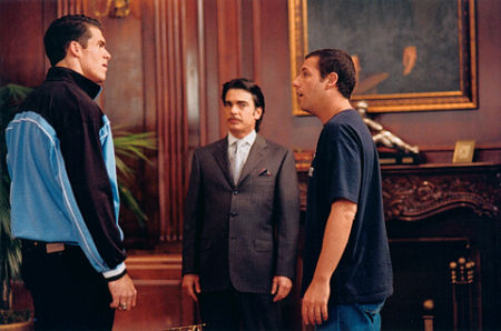 "Brandon Molale, Peter Gallagher, and Adam Sandler in ""Mr. Deeds"""
