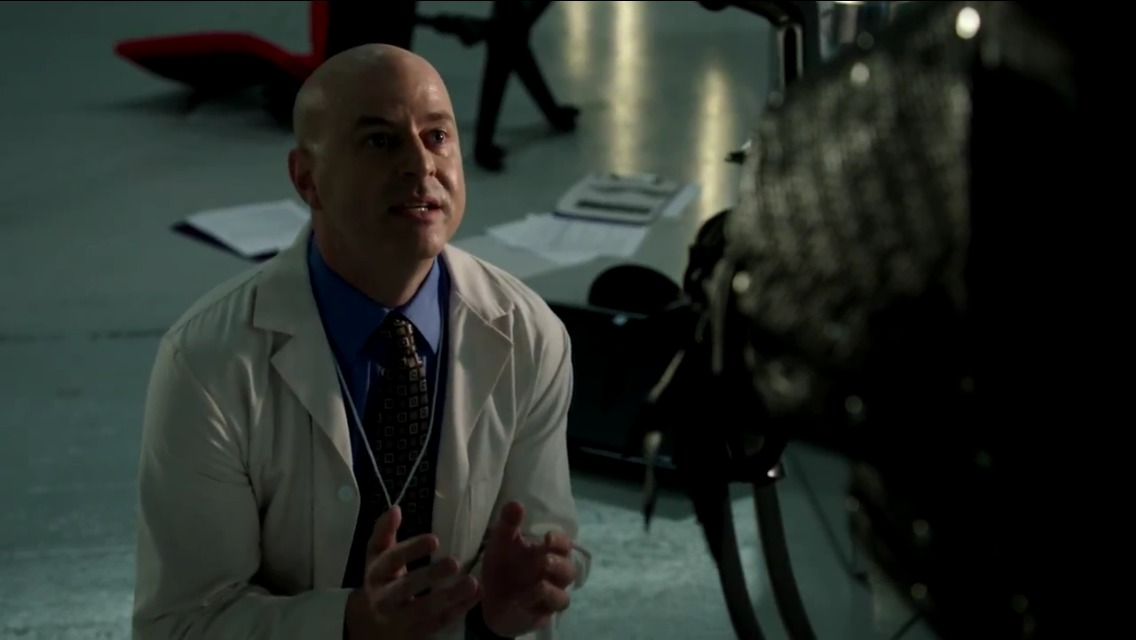 """Arrow """"Darkness on the Edge of Town"""" as Dr. Brion Markov"""