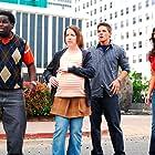 Crista Flanagan, Gary 'G. Thang' Johnson, Matt Lanter, and Kim Kardashian West in Disaster Movie (2008)