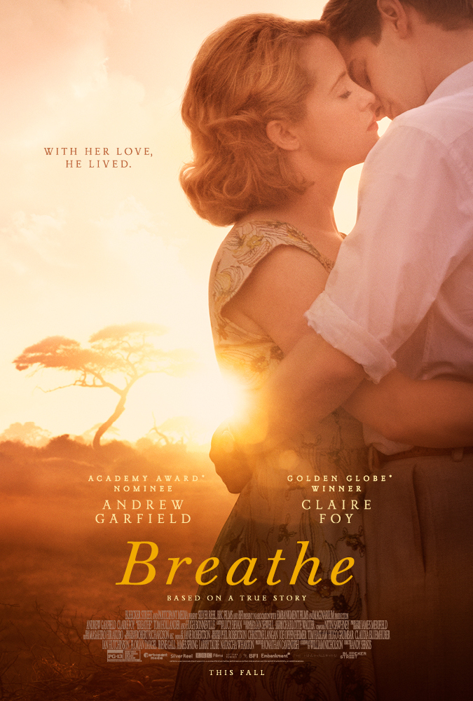 Andrew Garfield and Claire Foy in Breathe (2017)