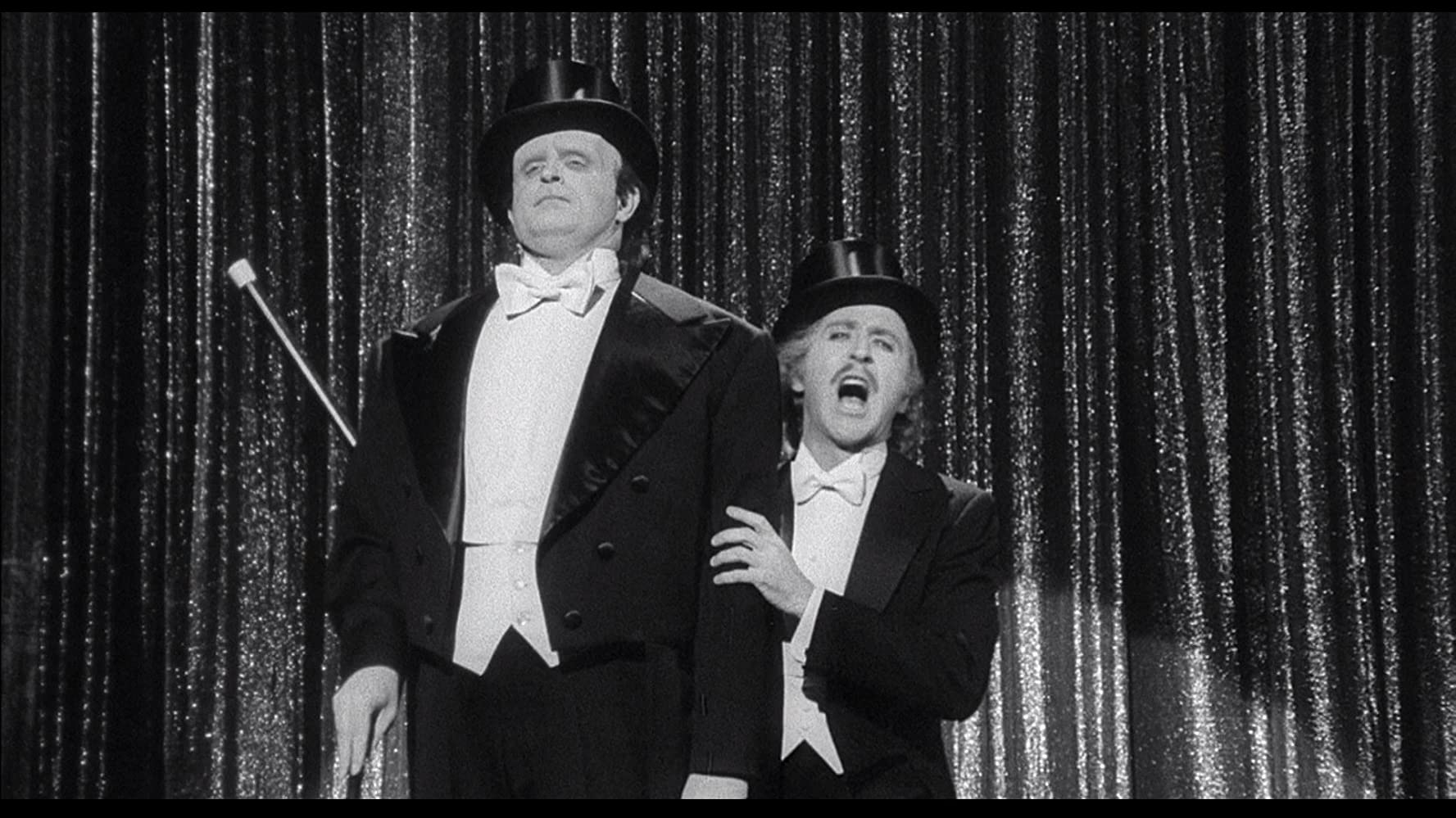Gene Wilder and Peter Boyle in Young Frankenstein 1974