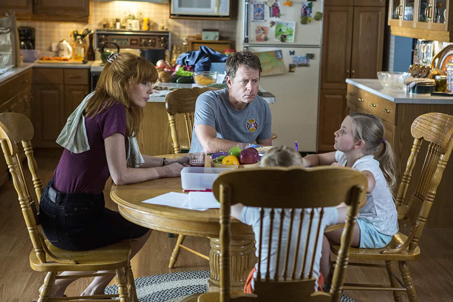 Greg Kinnear, Kelly Reilly, Lane Styles, and Connor Corum in Heaven Is for Real (2014)