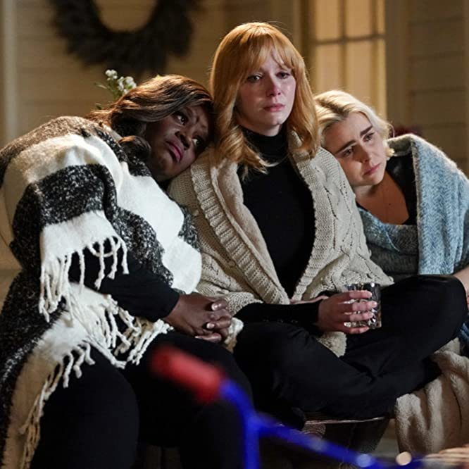 Christina Hendricks, Retta, and Mae Whitman in Good Girls (2018)