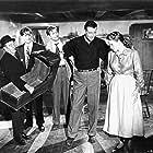 Maureen O'Hara, John Wayne, Barry Fitzgerald, Charles B. Fitzsimons, and Sean McClory in The Quiet Man (1952)