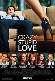 Kevin Bacon, Julianne Moore, Marisa Tomei, Steve Carell, Ryan Gosling, and Emma Stone in Crazy, Stupid, Love. (2011)