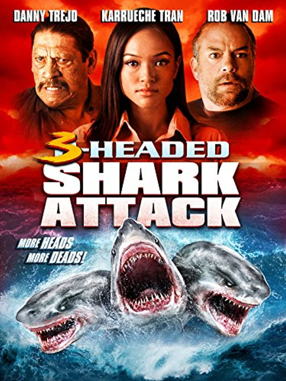 3 Headed Shark Attack 2015 Hindi Dual Audio 300MB BluRay ESubs