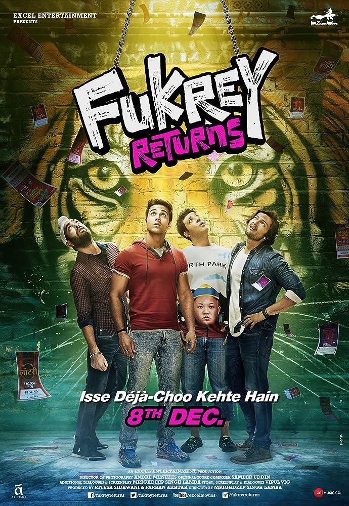 Fukrey Returns 2017 Hindi Movie 720p HDRip 1GB