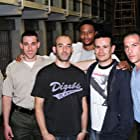 From left: Marty Johnson (Creator), Paul J. Alessi (Tompkins), Reuben Steinberg (D.P.), David Ramsey (Troy Stonebreaker), Alex Ranarivelo (Director) and Steven Gaswirth (Police Officer 2).  Photo taken on the set of Central Booking.