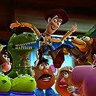 Tom Hanks, Joan Cusack, John Ratzenberger, Wallace Shawn, Jodi Benson, Blake Clark, Estelle Harris, and Don Rickles in Toy Story 3 (2010)