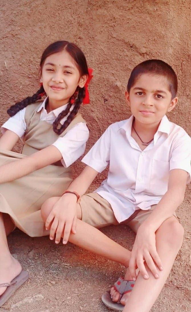 Bhavya Sirohi and Vishal Thakkar in Vitthal Teedi (2021)