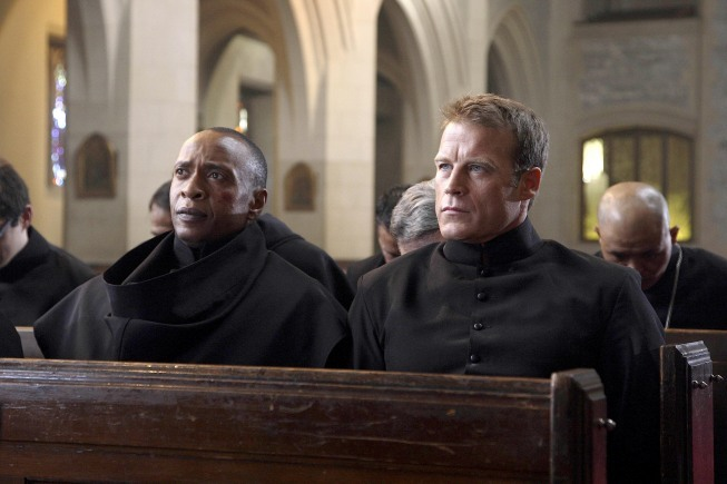 Peter Bryant and Mark Valley in Human Target (2010)