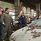 Seamus McGarvey, Aaron Taylor-Johnson, and Gareth Edwards in Godzilla (2014)