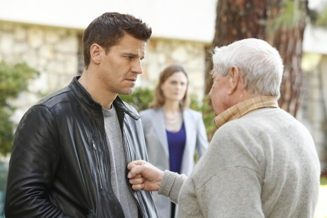 David Boreanaz and Ralph Waite in Bones (2005)