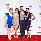 Jade Sealey, Amber Sealey, Kent Osborne, and Jennifer Lafleur at the No Light and No Land Anywhere premiere at LA Film Festival.