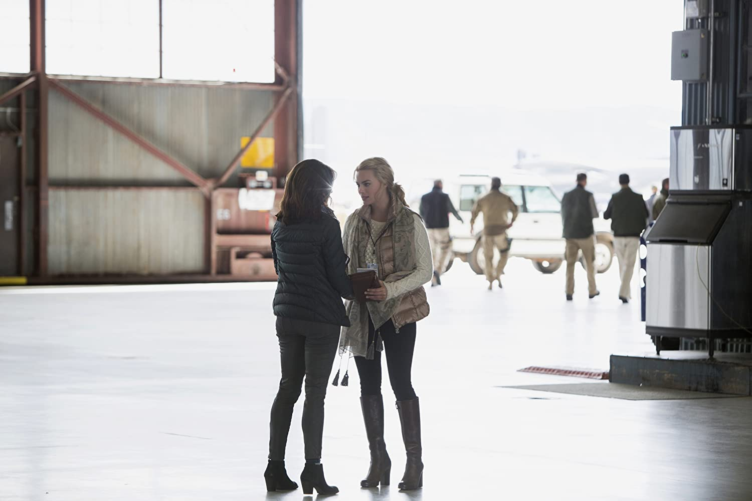 Tina Fey and Margot Robbie in Whiskey Tango Foxtrot (2016)