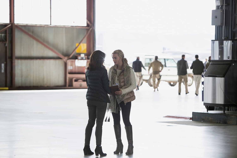 Tina Fey and Margot Robbie in Whiskey Tango Foxtrot (2016)