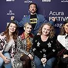 Milla Jovovich, Kevin Smith, Emma Roberts, Eiza González, and Danielle Macdonald in The IMDb Studio at Sundance (2015)