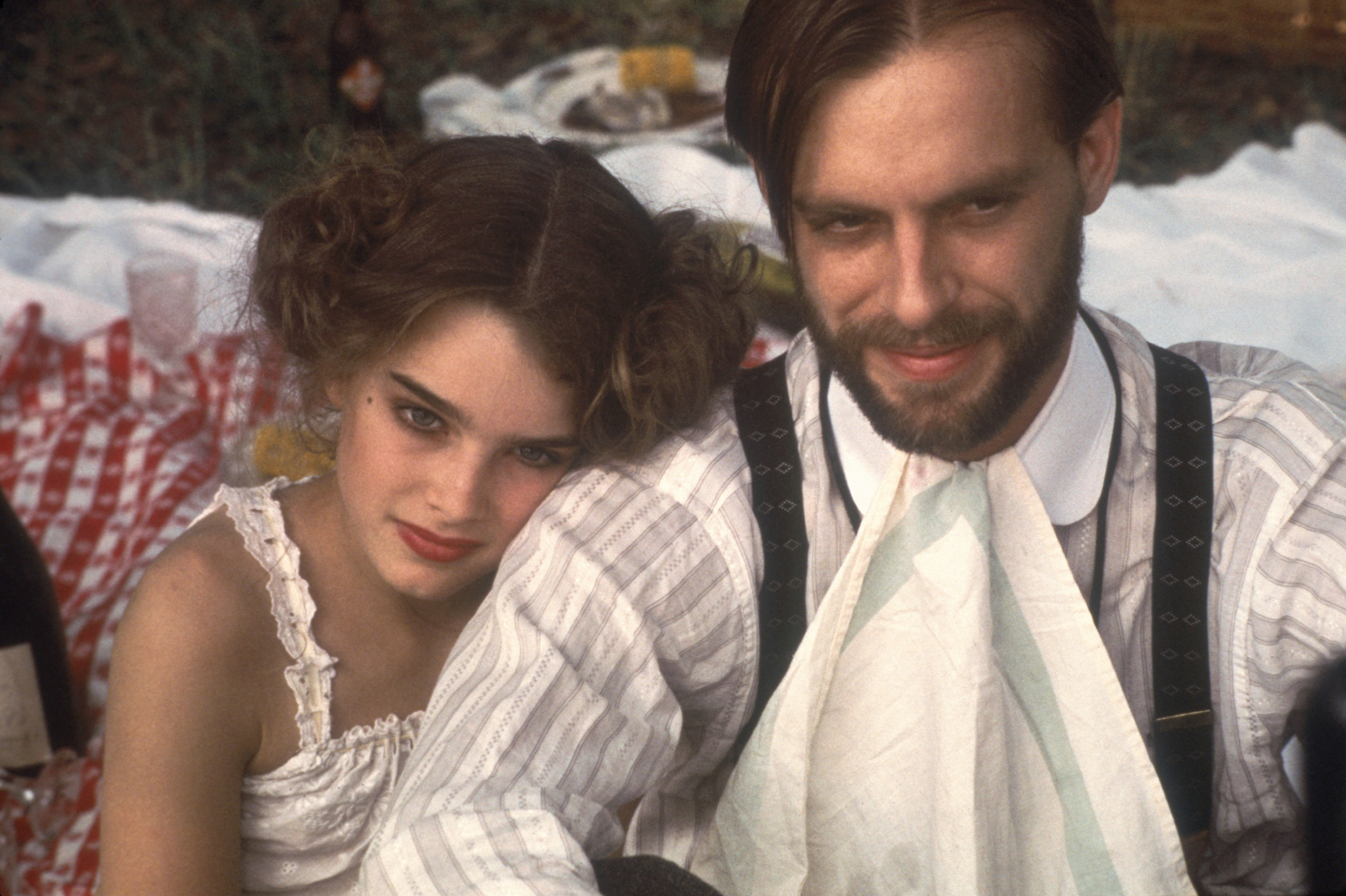 Brooke Shields and Keith Carradine in Pretty Baby (1978)