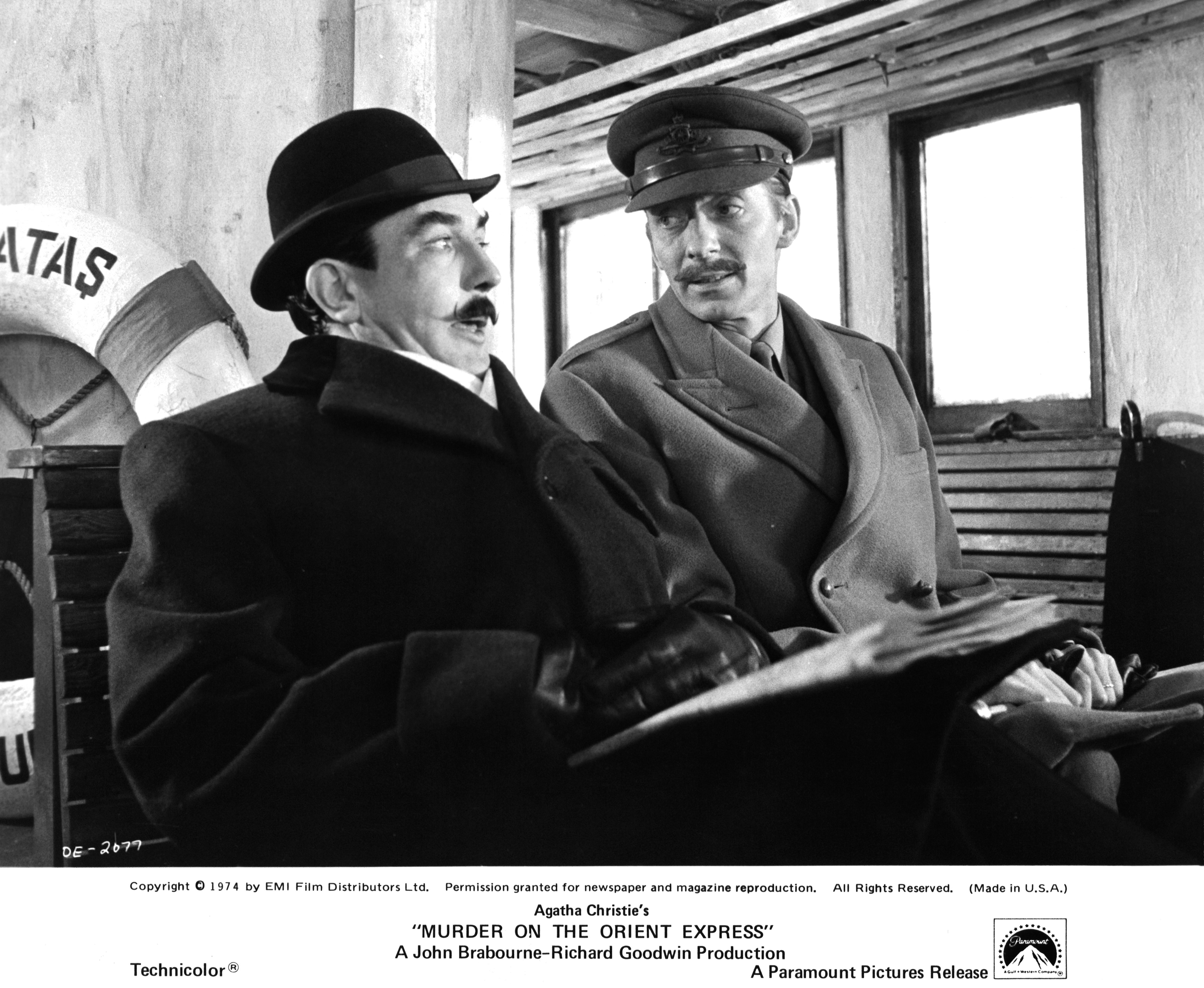 Albert Finney and Jeremy Lloyd in Murder on the Orient Express (1974)