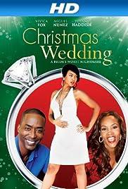 a christmas wedding poster