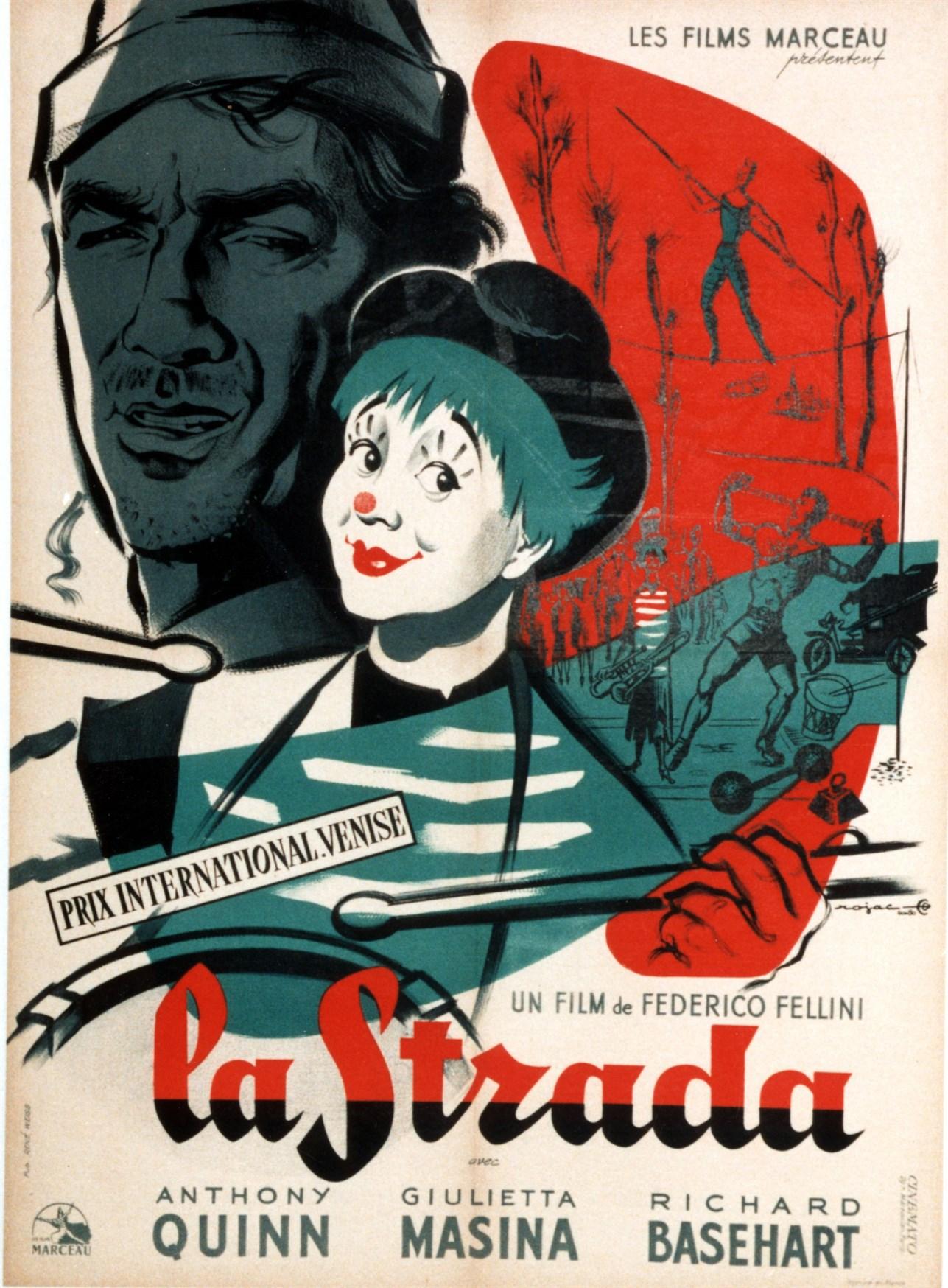 Anthony Quinn and Giulietta Masina in La strada (1954)