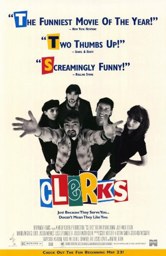 Kevin Smith, Marilyn Ghigliotti, Jeff Anderson, Brian O'Halloran, and Lisa Spoonauer in Clerks (1994)