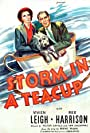 Vivien Leigh, Rex Harrison, and Scruffy in Storm in a Teacup (1937)