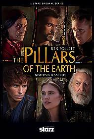 Donald Sutherland, Rufus Sewell, Matthew Macfadyen, Ian McShane, Eddie Redmayne, and Hayley Atwell in The Pillars of the Earth (2010)