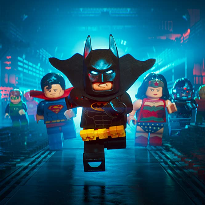 Will Arnett, Channing Tatum, Jonah Hill, and Adam Devine in The Lego Batman Movie (2017)