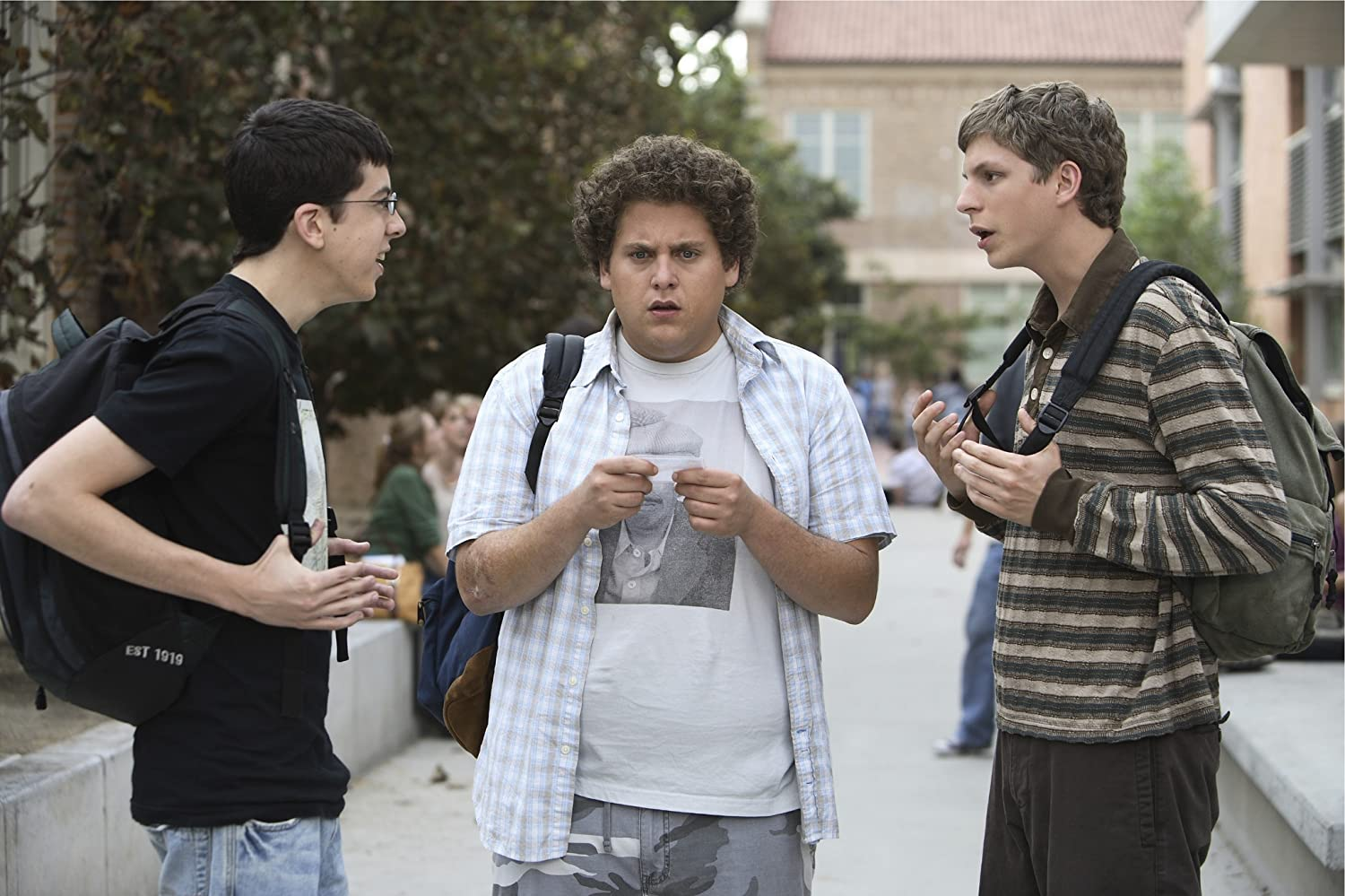 Michael Cera, Jonah Hill, and Christopher Mintz-Plasse in Superbad (2007)