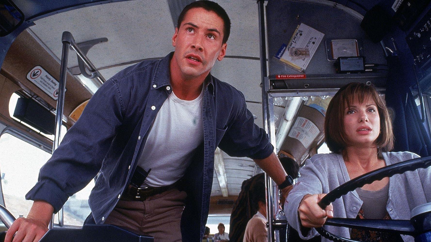 Sandra Bullock and Keanu Reeves in Speed (1994)