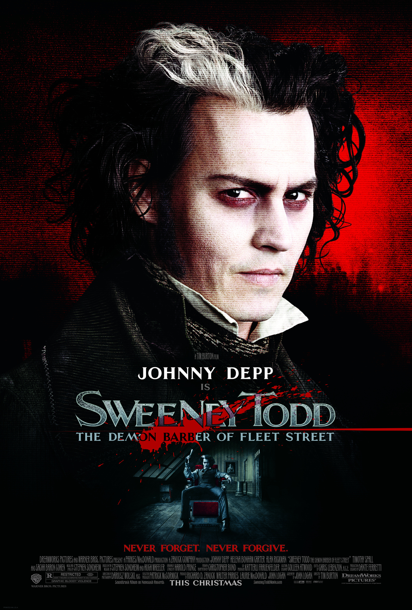 Sweeney Todd: The Demon Barber of Fleet Street (2007) BluRay 480p, 720p & 1080p