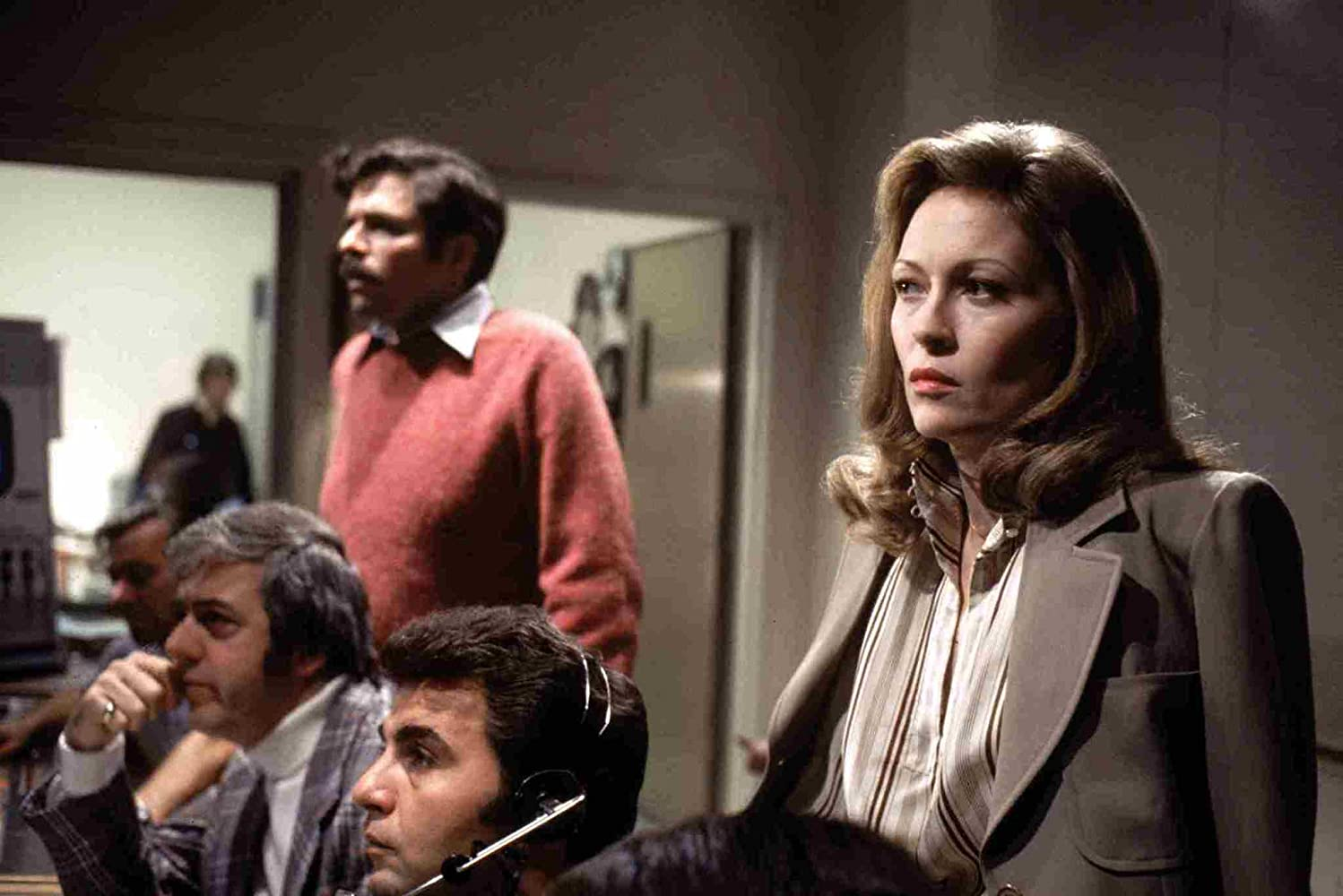 Faye Dunaway, Bill Burrows, and Jordan Charney in Network (1976)