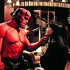 Ron Perlman and Selma Blair in Hellboy (2004)