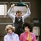 Tom Hanks, Charles Aidman, and Peter Scolari in Bosom Buddies (1980)