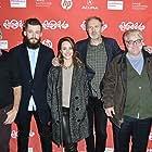 Willem Dafoe, Philip Seymour Hoffman, Anton Corbijn, Rachel McAdams, John Cooper, and Grigoriy Dobrygin at an event for A Most Wanted Man (2014)
