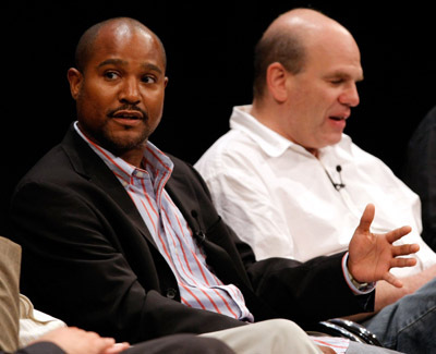 Seth Gilliam and David Simon at an event for The Wire (2002)