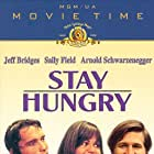 Arnold Schwarzenegger, Jeff Bridges, and Sally Field in Stay Hungry (1976)