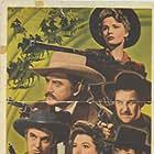 Broderick Crawford, Frances Farmer, Andy Devine, Richard Dix, Ann Rutherford, and Robert Stack in Badlands of Dakota (1941)