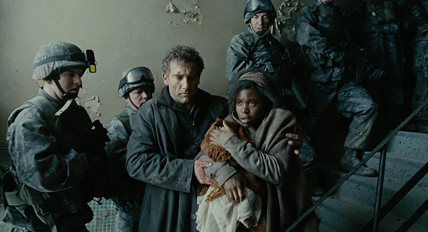 Clive Owen and Clare-Hope Ashitey in Children of Men (2006)