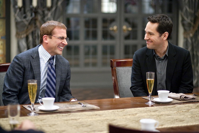 Steve Carell and Paul Rudd in Dinner for Schmucks (2010)