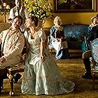 Keri Russell, Jane Seymour, James Callis, JJ Feild, and Ricky Whittle in Austenland (2013)
