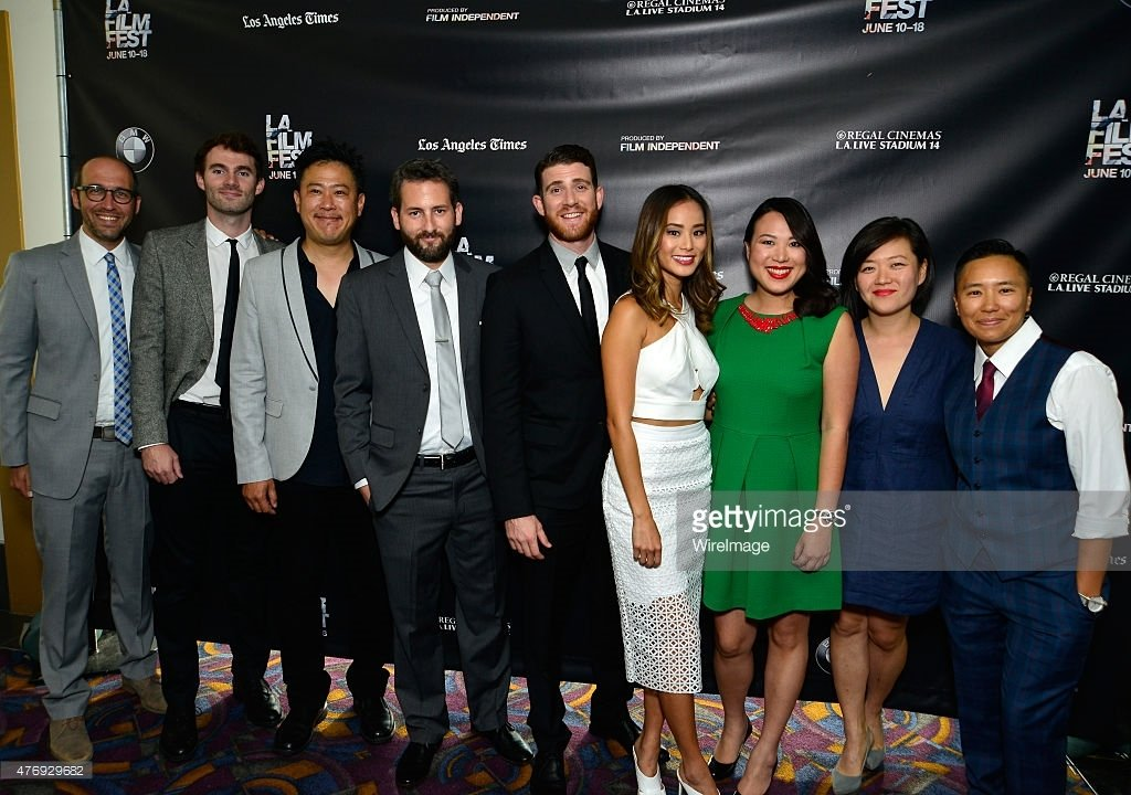 "Cast and Crew of ""It's Already Tomorrow in Hong Kong"" at the Los Angeles Film Festival World Premiere screening."